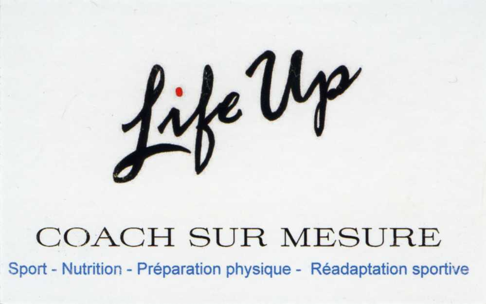 Collaboration avec « Life Up », coach sportif sur mesure