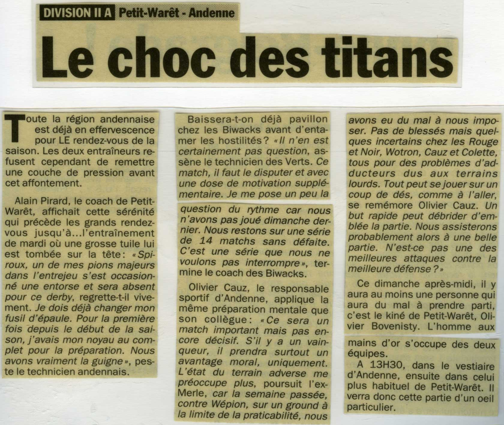 Article Petit Waret