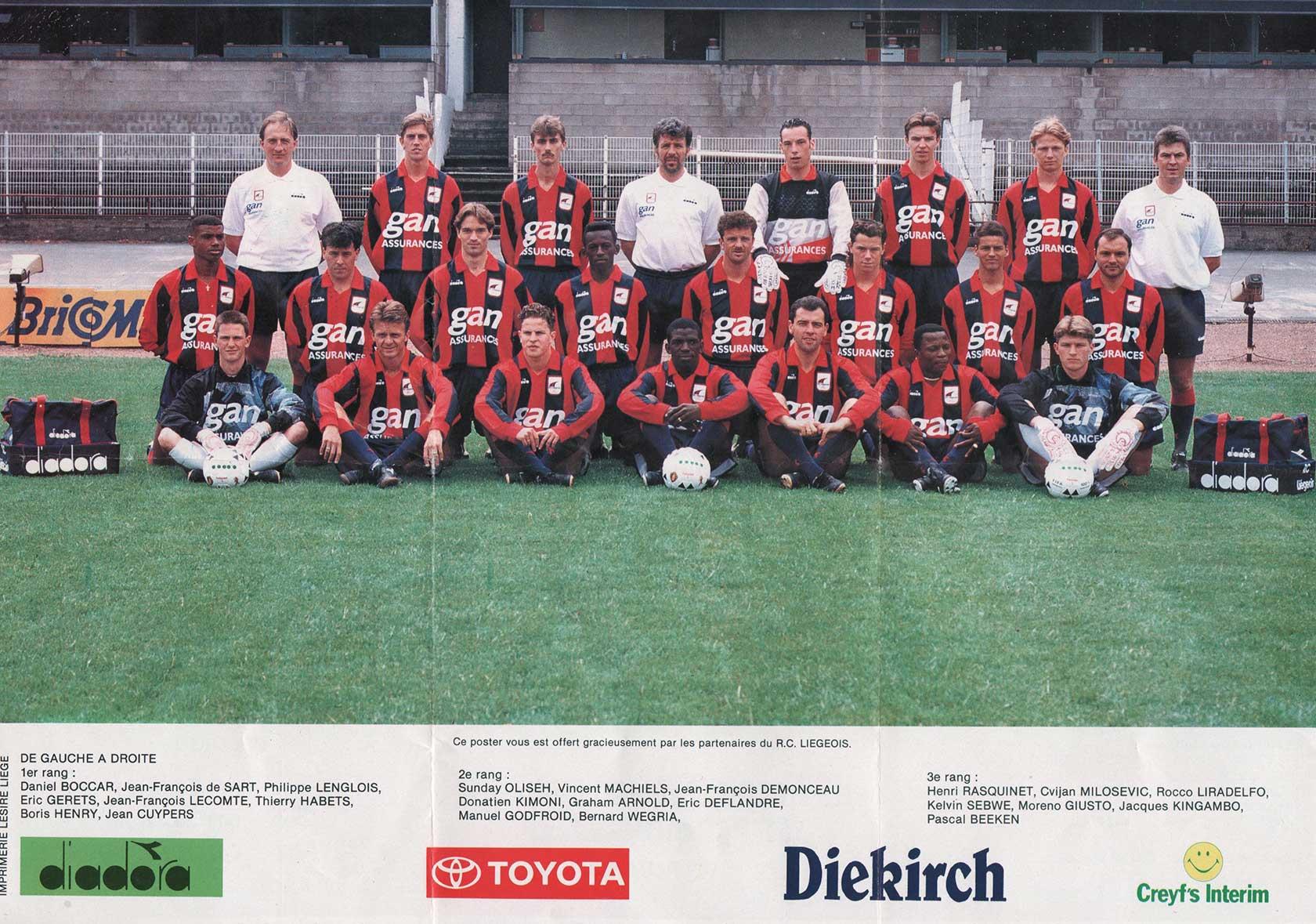 stage au F.C. Liégeois en D1